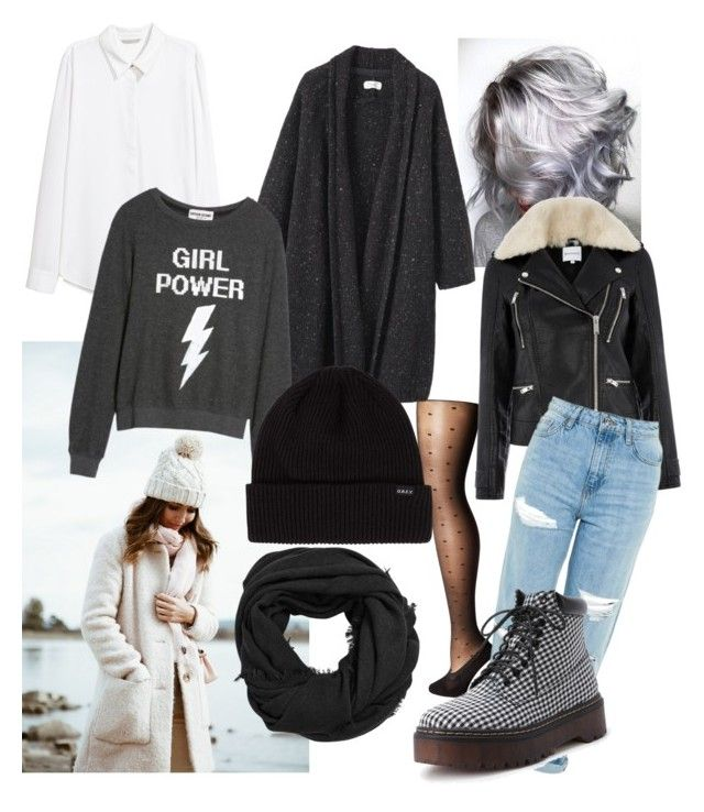 """Grunge: Winter outfit"" by drumeaclementina on Polyvore featuring Bootights, MANGO, Warehouse, Toast, Dream Scene, Topshop, Winter and grunge"
