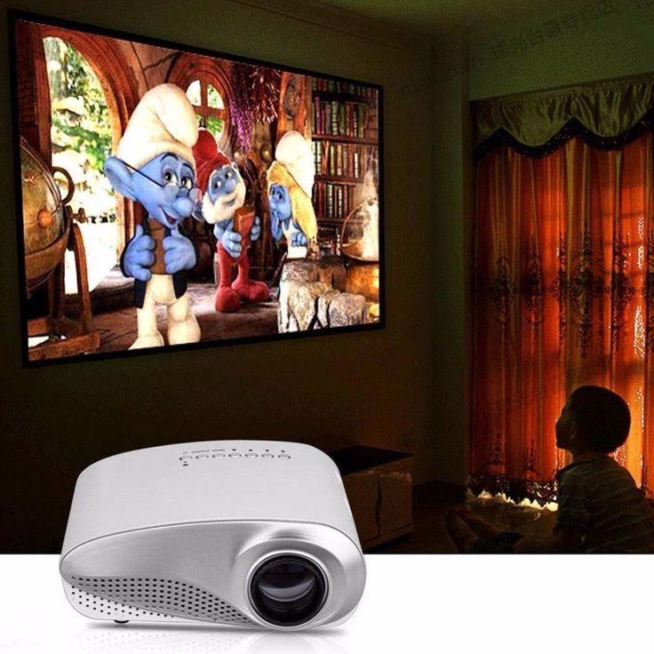 Mini HD 1080P AV HDMI Home Cinema Theater Movie Multimedia LED Projector White EU #homecinemaprojector