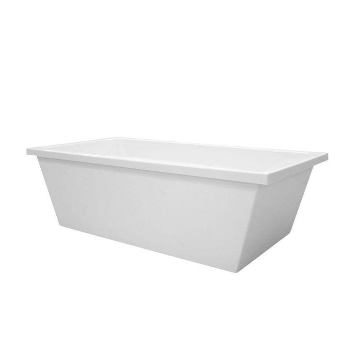 Hydro Systems Brighton 5.5 ft. Center Drain Freestanding Air Bath Tub in White