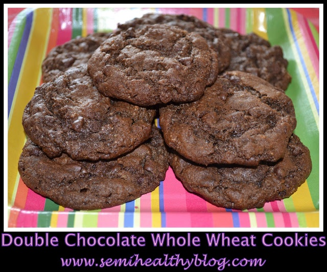 Double Chocolate Whole Wheat Cookie Goodness
