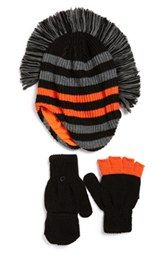 Nolan Glove Mohawk Hat & Gloves (Little Boys)
