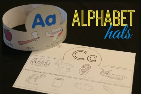 FREE! Alphabet Hats for Toddler Preschool Kindergarten - These are such a fun alphabet activity for kids to learn what starts with the letter of the week. LOVE THIS!