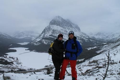 David Wilson and his wife have been all alone, overlooking the Many Glacier Hotel in Montana since October. You can keep up with the couple on their blog, A Winter at Many Glacier.