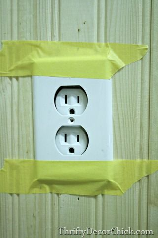 Good tutorial to make outlet flush when put over bead board                                                                                                                                                                                 More
