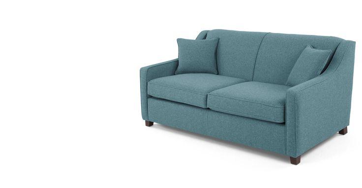 Halston Sofa Bed, Teal Weave made.com