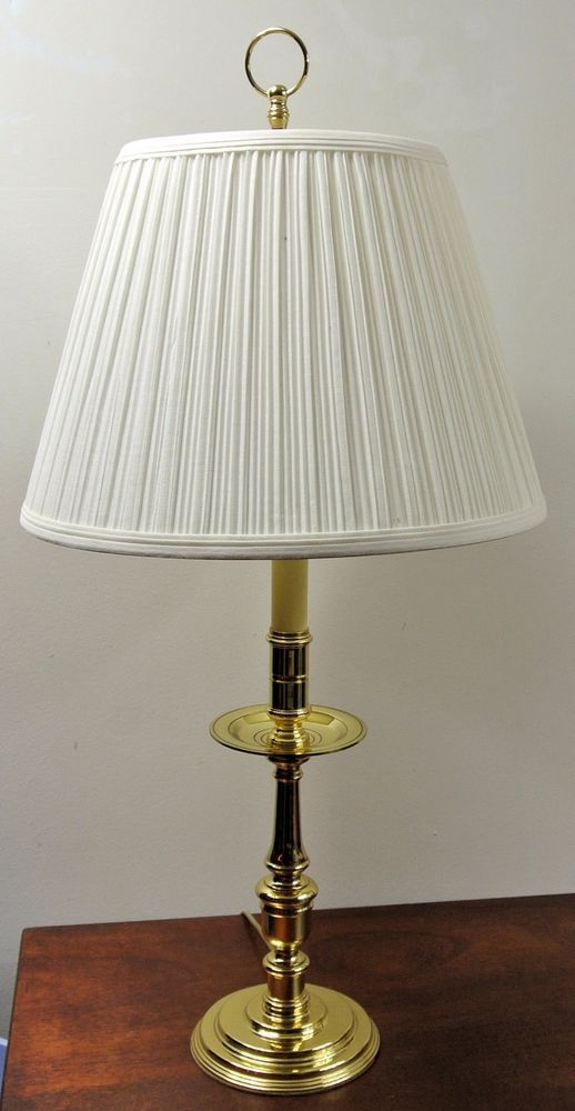 Details About Baldwin Brass Candlestick Table Lamp Shiny