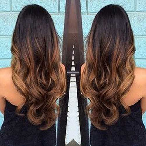 Dark Brown Long Ombre Hair