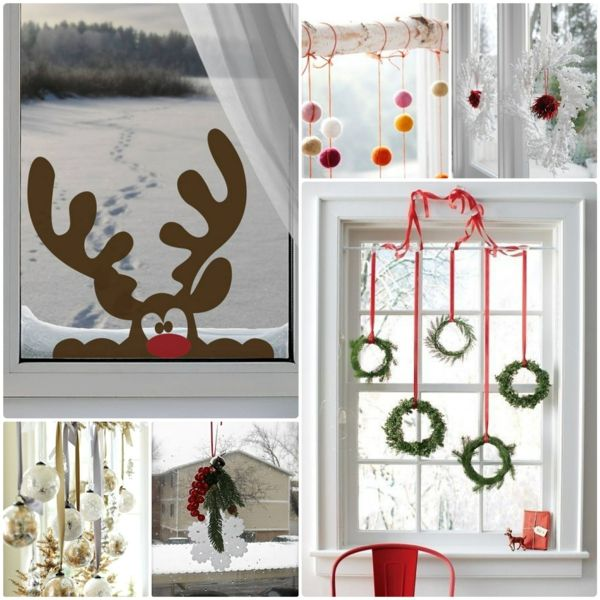 weihnachtsdeko basteln festliche fensterdeko - Diy Weihnachtsdeko Basteln