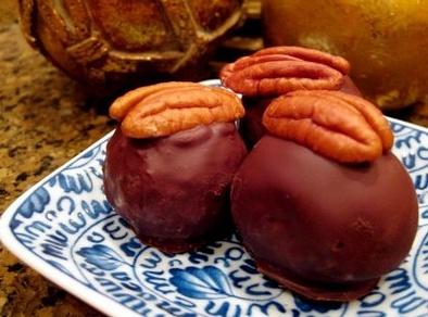 Bourbon Balls - hmm maybe my cookie exchange this year