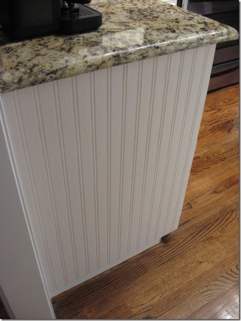 Beadboard wallpaper project cabinets islands and tutorials for Beadboard kitchen cabinets