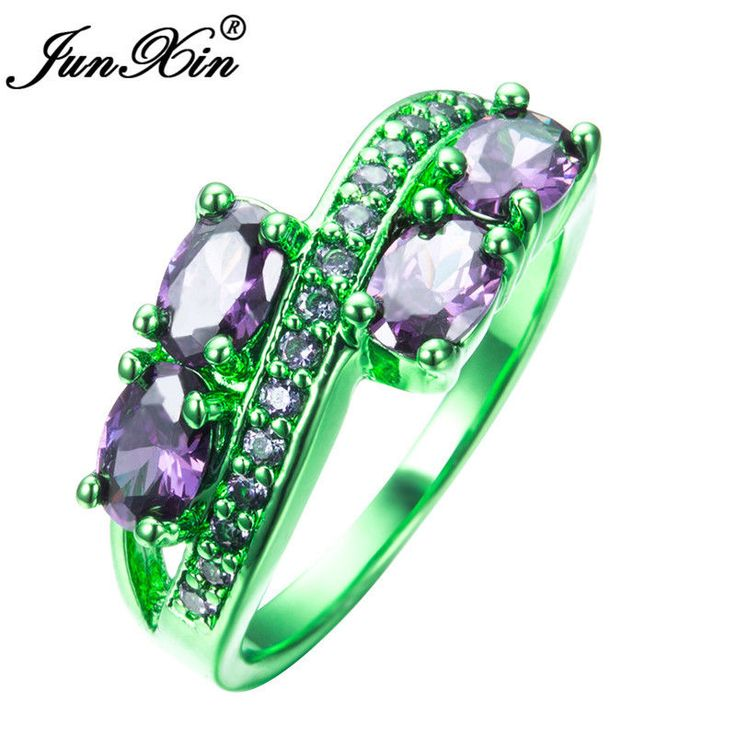 bands black gold women purple jewelry ring filled ocean rings from opal item vintage in wedding stone amethyst engagement cz blue band fire men