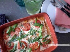 spinazie courgette lasagne, heerlijk recept.