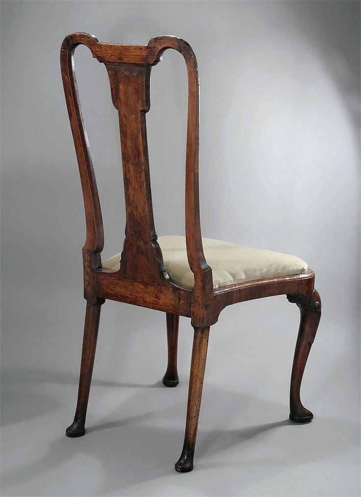 Queen Anne Chair Fiddleback Rococo Queen Anne Chair