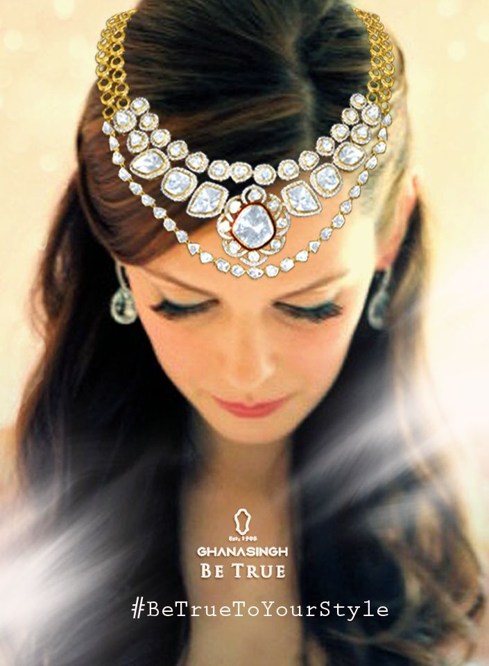 #BeTrueToYourStyle:Convert the necklace to a tiara. Try numerous styles with the same jewellery piece to give a different look every time you wear it differently. #FashionTrends