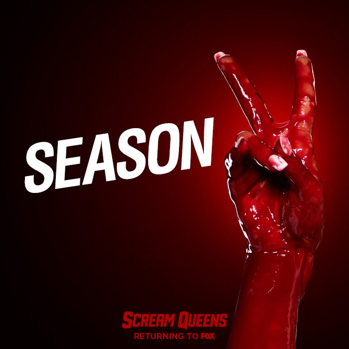 """FOX has renewed the comedy-horror series SCREAM QUEENS for a second season, it was announced today by Gary Newman and Dana Walden, Chairmen and CEOs, Fox Television Group.  From award-winning executive producers Ryan Murphy (""""Glee,"""" """"American Horror Story"""