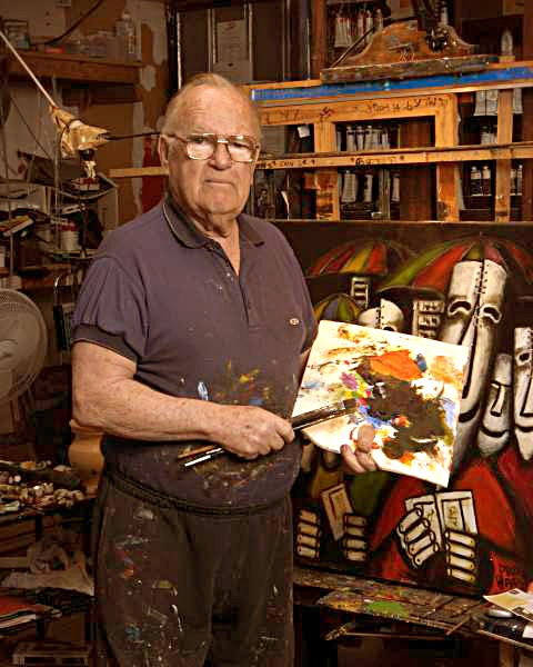 Pro Hart, Australian Outback Artist. It is estimated he painted over 70,000 paintings in his lifetime. To prove authenticity of his paintings, he used his own DNA and was the first artist worldwide in 2002 to do so.