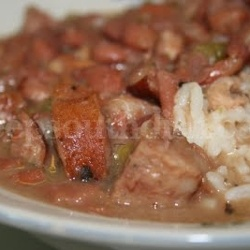 Homemade Southern Red Beans and Rice Dish