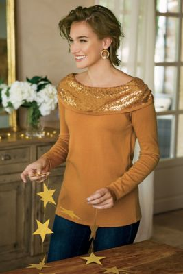 Raven Sequin Sweater from Soft Surroundings
