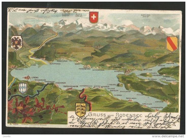 BODENSEE Mammern Konstanz Arbon Rorschach Bregenz Langenargen Hard Horn Romanshorn 1901