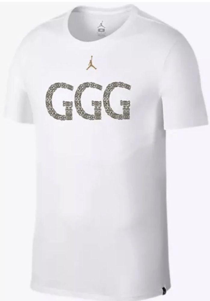 7874b97e24a2 NIKE JORDAN GGG TRIPLE G GENNADY GOLOVKIN LIMITED SHIRT WHITE AQ8818 100 sz  2XL  Nike  ShirtsTops