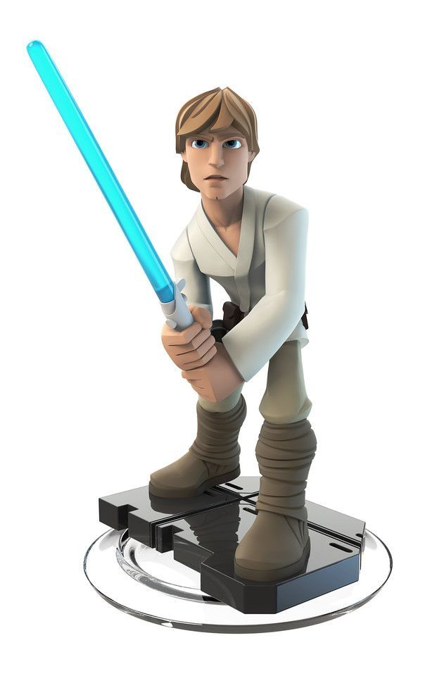 Star Wars Comes to Disney Infinity 3.0: Luke has the pose of a practised martial artist, cunning.