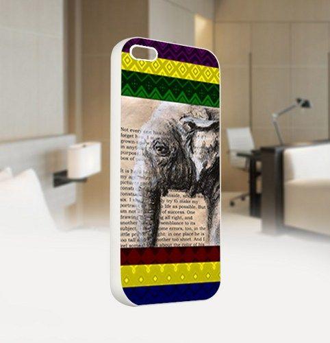 Vintage Elephant Aztec Custom - For IPhone 5 White Case Cover