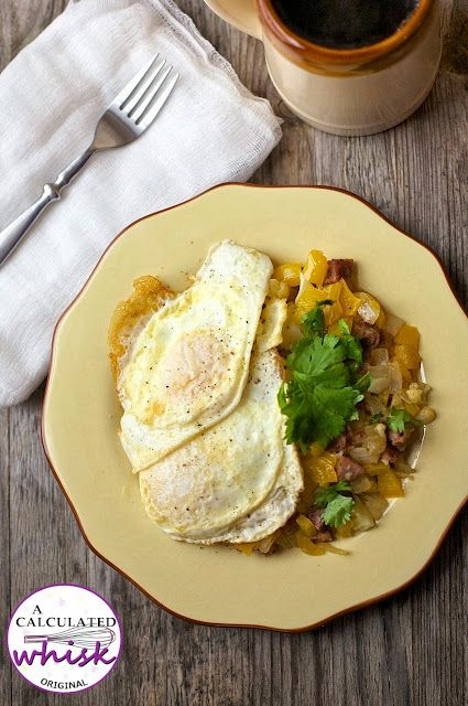 Creole Hash & Eggs (Whole30 Day 2) - A Calculated Whisk