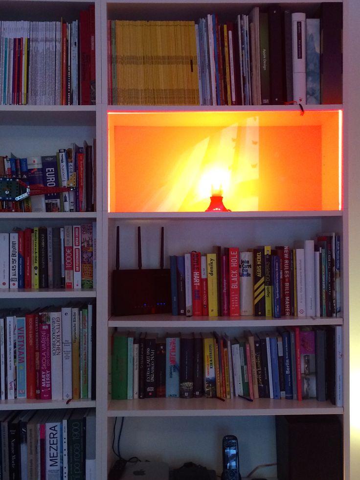 Stunning Benutzt doch ein Fach f r eine Lampe Steck eine Gl hbirne rein lasst dir ein buntes Plexiglas in die passende Gr e zuschneiden und decke damit das Fach