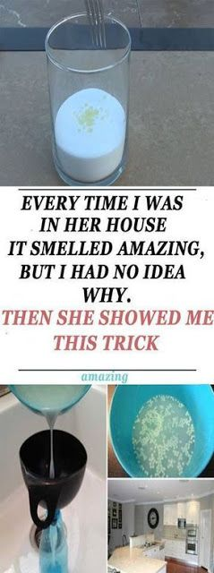EVERY TIME I WAS IN HER HOUSE IT SMELLED AMAZING, BUT I HAD NO IDEA WHY. THEN SHE SHOWED ME THIS TRICK