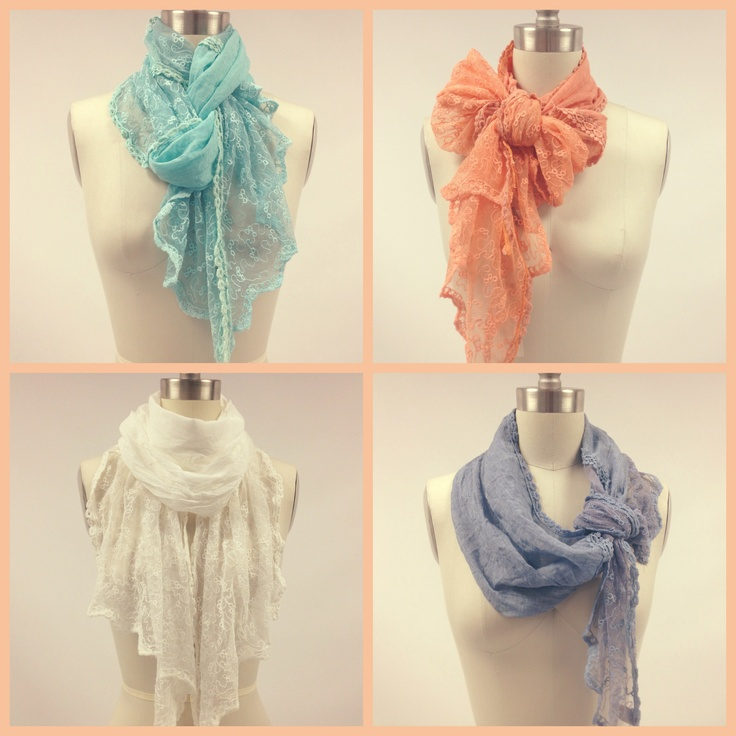 Tie your Spring scarves in interesting ways!