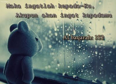 When rain falls, don't be sad, Allah there, always be with you :)