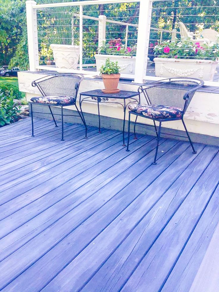 Stockist Janet Metzger Of The Empty Nest In Warrenton, Virginia Guided One  Of Her Customers In Reviving Her Old Deck With A Wash Of Graphite Chalk  Paint® ... Part 59
