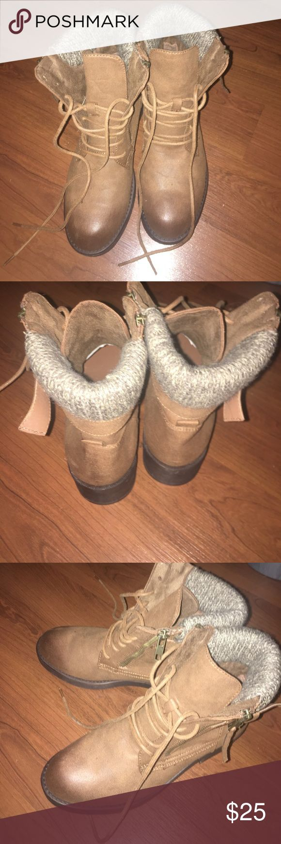 brown ankle boots from Charlotte Russe size 7 (NEVER WORN!!!!) Charlotte Russe Shoes Ankle Boots & Booties