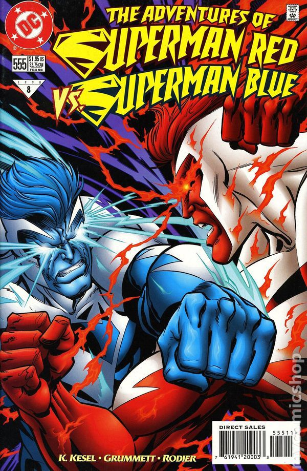 Electric Superman vs Superman Red