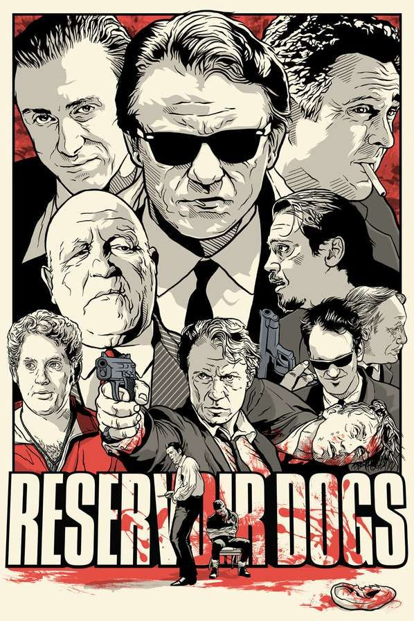 Reservoir Dogs Illustrated Movie Poster Tribute by Joshua Budich.: Movie Posters, Quentin Tarantino, 90S Movie, Quentintarantino, Posters Design, Joshua Budich, Fans Art, Reservoirdog, Reservoir Dogs