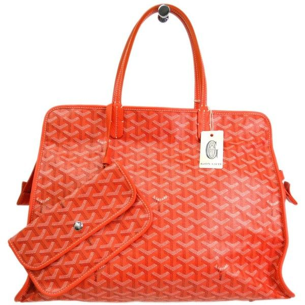 Pre-owned Goyard Tote (25.205 ARS) ❤ liked on Polyvore featuring bags, handbags, tote bags, apparel & accessories, tote handbags, wallets & cases, goyard tote, leather zip tote, zippered tote bag and zip pouch