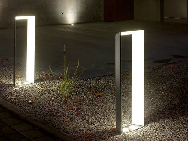 Aluminium bollard light lighting pinterest l for Exterior lighting design