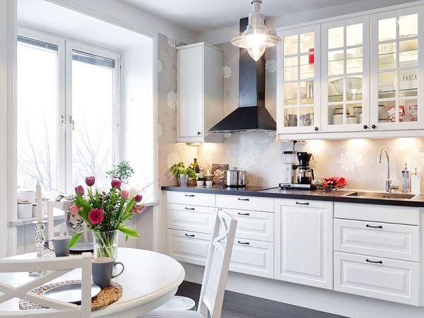 Znalezione obrazy dla zapytania kuchnia w bieli