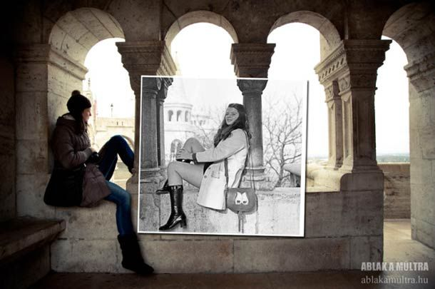 """When photographs from the past of Budapest meet the present, the excellent project """"Window to the Past"""" from the Hungarian photographer Kerényi Zoltán, who walks around the city of Budapest to find places of old photographs and then superimpose them on present"""