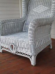 Vintage High Back Cane Chair