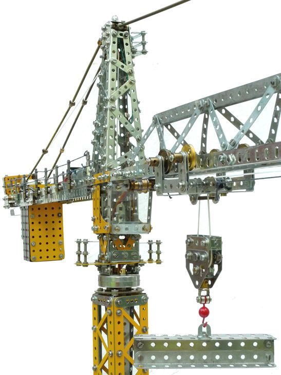 Meccano TowerCrane by Howard Somerville, from a modelplan by Philip Webb