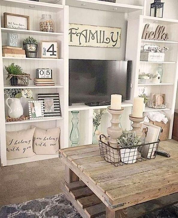 46 Cool Rustic Living Room Decor Idees Pour Votre Maison In 2020 Living Room Decor Rustic Farm House Living Room Farmhouse Decor Living Room