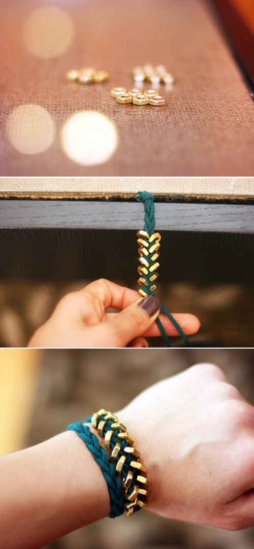 Hexagon Bracelet | 33 DIY Gifts You Can Make In Less Than An Hour