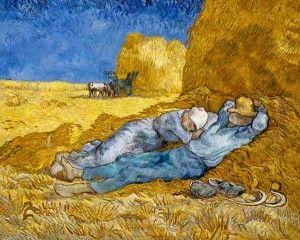Siesta - Vincent van Gogh Rok powstania: 1890 Technika malarska: olej na płótnie Gatunek malarski: malarstwo rodzajowe Styl malarski: postimpresjonizm Ekspozycja: Musee de O'rsay http://www.magazynsztuki.pl/siesta-vincent-van-gogh/