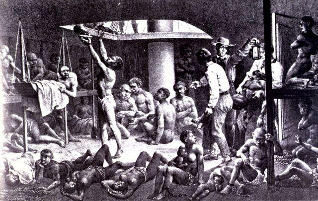 07 Tijd van Pruiken en Revoluties, 1700-1800 --- 4). Uitbouw van de Europese overheersing, met name in de vorm van plantage-koloniën en de – daarmee verbonden transatlantische slavenhandel, en de opkomst van het abolitionisme    3) Transatlantische slavenhandel via de plantagekoloniën
