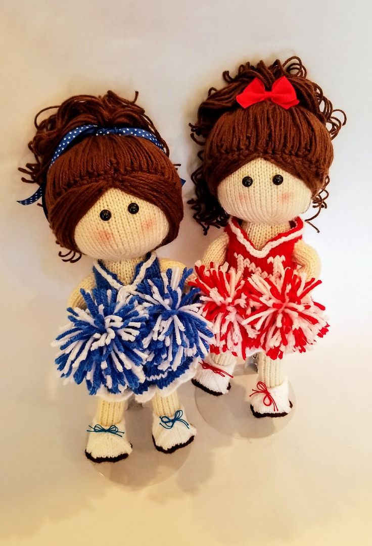 Cheerleader Knit Doll Pattern by Violets & Heather