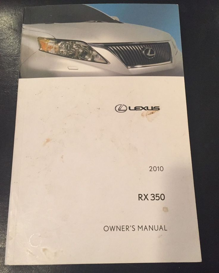 cool Awesome 2010 Lexus RX350 Owners manual 2018 Check more at http://24carshop.com/cars-gallery/awesome-2010-lexus-rx350-owners-manual-2018/