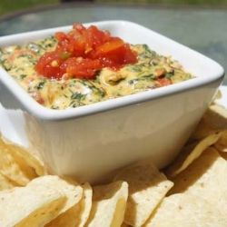 Cheesy Spinach Bacon Dip. Lol...you had me at cheesy.