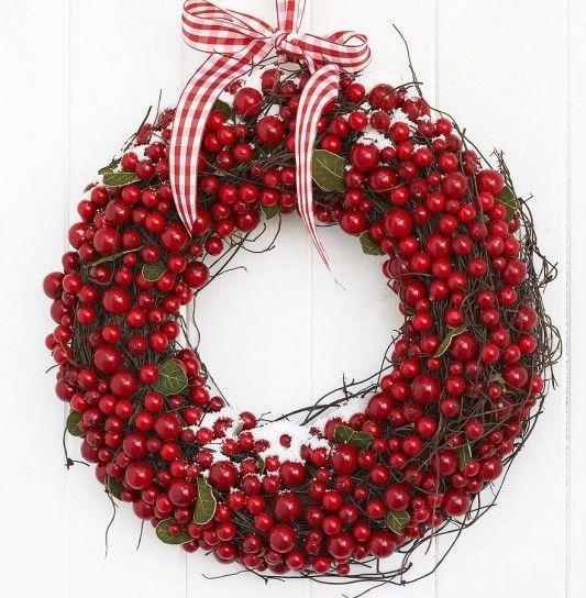 christmas ghirlanda bacche rosse