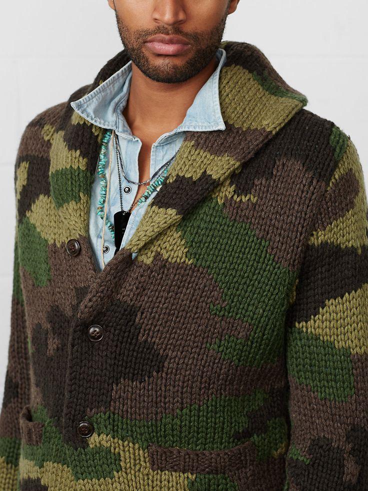 Camo Shawl-Collar Cardigan | RALPH LAUREN DENIM & SUPPLY